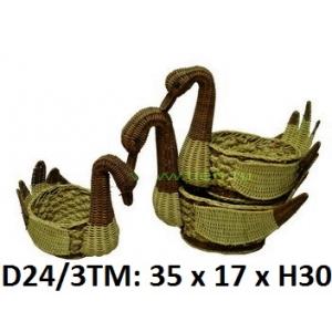 Лебеди ротанговые набор 3 в 1 D24\3T-M1