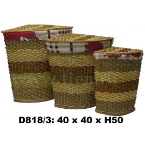 Бак угловой с тканью набор 3в1 D818/3