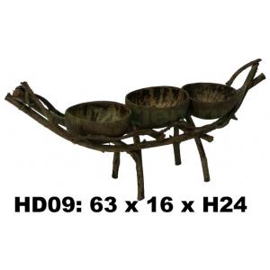 Кашпо из лиан- лодка  HD09