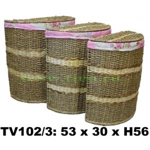 Бак полукруглый с крышкой набор 3 в 1 TV102/3