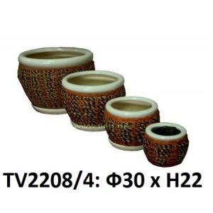 Кашпо для цветов набор 4в1 TV2208/4 (4)