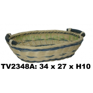 Поднос из ротанга (бело-синий) TV2348A-C