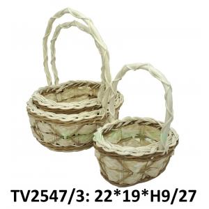 Корзинка ротанговая овальная 3 в 1 TV2547/3-1(бело)