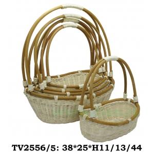 Корзинка ротанговая овальная 5 в 1 TV2556/5 (белый)