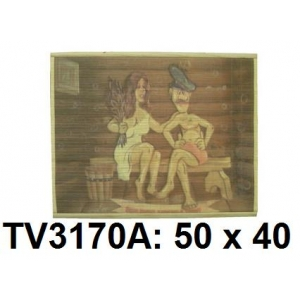 Панно бамбук с рисунком баня 50*40 см  TV3170A-11