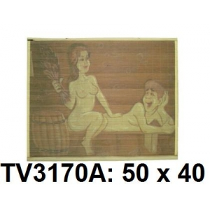 Панно бамбук с рисунком баня 50*40 см  TV3170A-8