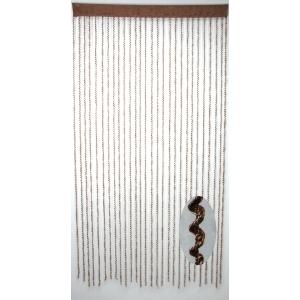 Шторы из синтетической нити «Спираль» (коричневый) 100*200 см TV3348-1