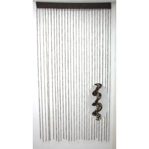 Шторы из синтетической нити «Спираль» (темно- коричневый) 100*200 см TV3348-2
