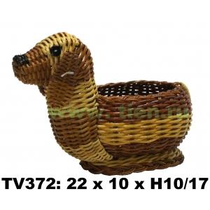 Собака плетеная TV372-N