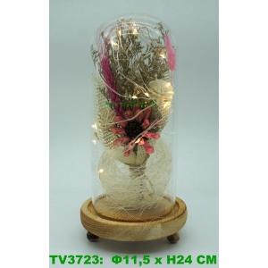 Искуственные цветы в стеклянной колбе TV3723-1