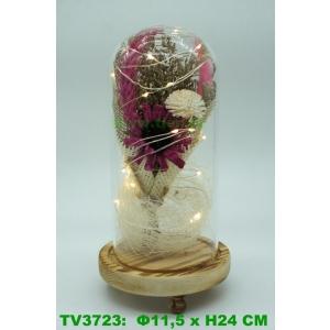 Искуственные цветы в стеклянной колбе TV3723-3