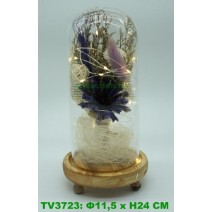 Искуственные цветы в стеклянной колбе TV3723-4