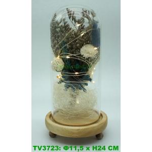 Искуственные цветы в стеклянной колбе TV3723-5