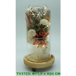 Искуственные цветы в стеклянной колбе TV3723-6