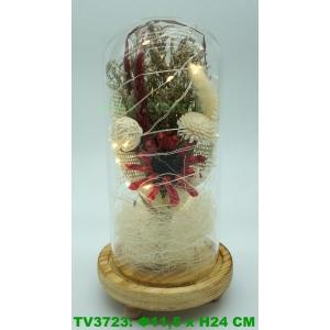 Искуственные цветы в стеклянной колбе TV3723-7