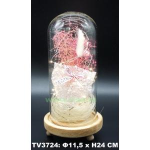 Искуственные цветы в стеклянной колбе TV3724-1