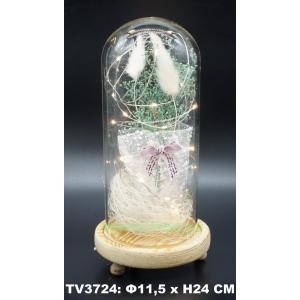 Искуственные цветы в стеклянной колбе TV3724-2