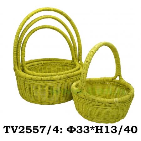 Корзинка ротанговая круглая 4 в 1 TV2557/4-4 (жёлто)